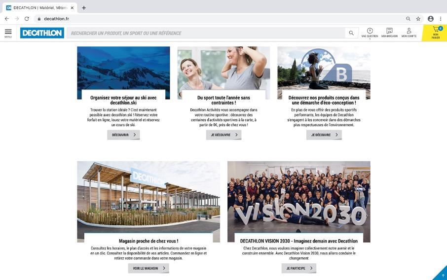 Décathlon vision : la plateforme en ligne